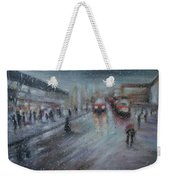 Christmas Rain Shopping Weekender Tote Bag