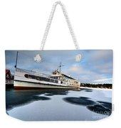 Ms Mount Washington At Winter Dock Weekender Tote Bag
