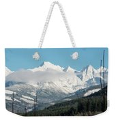 Mt Baker And Clouds Weekender Tote Bag