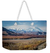 Mt Denali View From Eielson Visitor Center Weekender Tote Bag