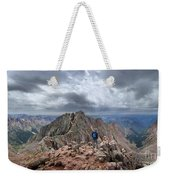 Mt Eolus And The Catwalk From North Eolus - Chicago Basin - Weminuche Wilderness - Colorado Weekender Tote Bag