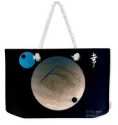 Mt Fuji Moon Weekender Tote Bag