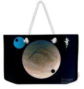 Mt Fuji Moon Weekender Tote Bag