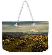 Mt. Hood And Wildflowers Weekender Tote Bag