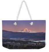 Mt. Hood From Camas Weekender Tote Bag