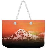 Mt Hood Oregon Sunset Weekender Tote Bag by Aaron Berg