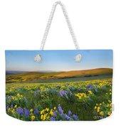 Mt. Hood Wildflower Morning Weekender Tote Bag