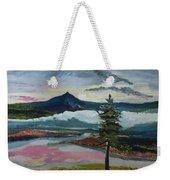 Mt Hood Winter Sunrise Weekender Tote Bag
