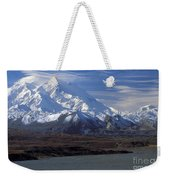 Mt. Mckinley And Lenticular Clouds Weekender Tote Bag