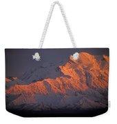 Mt. Mckinley Sunset Weekender Tote Bag