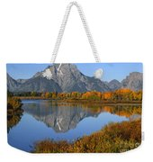 Mt. Moran Fall Reflection  Weekender Tote Bag