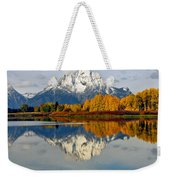 Mt Moran From Ox Bow Bend On A Fall Morning Weekender Tote Bag