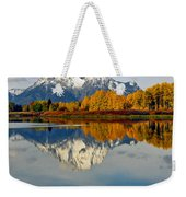 Mt Moran From The Ox Bow Weekender Tote Bag