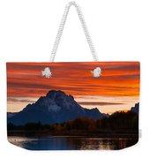 Mt. Moran Sunset Weekender Tote Bag