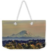 Mt Rainer Fall Color Rising Weekender Tote Bag