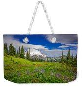 Mt Rainier And Wildflowers Weekender Tote Bag