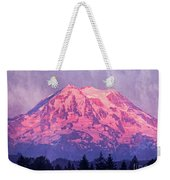 Mt. Rainier Weekender Tote Bag