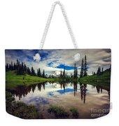 Mt Rainier Reflections Weekender Tote Bag