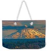 Mt Rainier Sunset Weekender Tote Bag