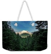 Mt Rainier Through The Trees Weekender Tote Bag
