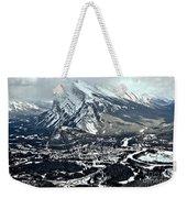 Mt Rundle Aerial View Weekender Tote Bag