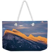 Mt Rundle Sunset Banff Weekender Tote Bag