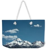 Mt Shasta With Heart-shaped Cloud Weekender Tote Bag