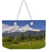 Mt Shasta With Picnic Tables Weekender Tote Bag