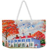 Mt. Vernon East Front In Fall Weekender Tote Bag