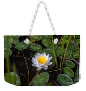 Mudd Pond Water Lily Weekender Tote Bag