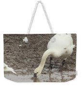 Muddy Tundra Swan Weekender Tote Bag