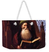 Mufti Reading In His Prayer Stool Weekender Tote Bag