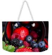 Mug With Fresh Berries Weekender Tote Bag