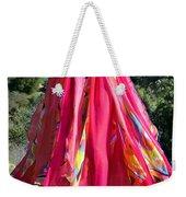 Multi-color Pink Skirt. Ameynra Design Weekender Tote Bag