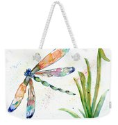 Multi-colored Dragonfly Weekender Tote Bag