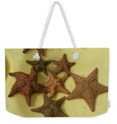 Multi-colored Star Fish On The Sand Weekender Tote Bag