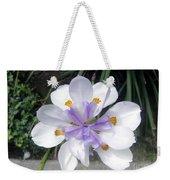 Multi-petal White Iris Flower. Very Unusual, Rare Form Weekender Tote Bag