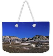 multicolored hills in Petrified Forest National Park Weekender Tote Bag