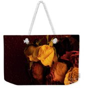 Multicolored Roses Wilting  Weekender Tote Bag