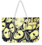 Multiple Personalities Weekender Tote Bag by Paulo Zerbato