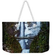 Multnomah Falls Frozen Weekender Tote Bag