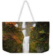 Multnomah Falls In Autumn Colors Weekender Tote Bag
