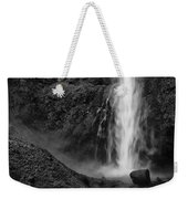 Multnomah Falls In Black And White Weekender Tote Bag