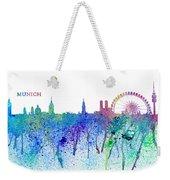 Munich Skyline Silhouette An Impressionistic Splash - Dream Cities Series Weekender Tote Bag