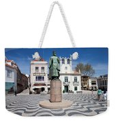Municipal Square In Cascais Portugal Weekender Tote Bag