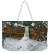 Munising Falls Frozen Weekender Tote Bag