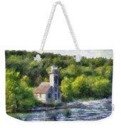 Munising Grand Island Lighthouse Upper Peninsula Michigan Pa 01 Weekender Tote Bag