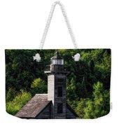 Munising Grand Island Lighthouse Upper Peninsula Michigan Vertical 02 Weekender Tote Bag
