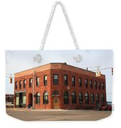 Munising Michigan City Hall Weekender Tote Bag