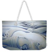 Mural  Winters Embracing Crevice Weekender Tote Bag